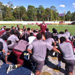 @CoachMack_NCCU1 addresses his #NCCUfootball team after practice at Memorial Stadium in Daytona Beach, Florida. http://t.co/yCSQVWiHPV