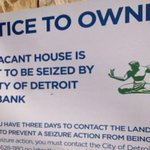 #Detroit; @MayorMikeDuggan after the expiration of time, why is the LandBank NOT removing the signs? This is #Blight http://t.co/MBv5kC0H4W