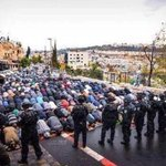 They closed Masjid al- Aqsa. They could not close the hearts of believers who still gathered to pray outside. http://t.co/UPipm2chMc