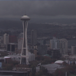 #Seattle looks SPOOKY! Looks stormy but its not right now. Could be a little stormy late afternoon. #Halloween http://t.co/5y7d0Y0rIx