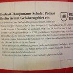 Gefahrengebiet 1 in #Berlin RT @kreuzhainer: Hauptmann-Schule an #Ohlauer Straße http://t.co/b4bwejx5uC