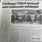 Amigos de @eluniversocom, ustedes escucharon la entrevista o les contaron lo q dijimos sobre la Liga y la FIFA? http://t.co/fViCg38GRk