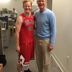 Warriors head coach Steve Kerr meets his mini me before Halloween practice. http://t.co/hRPARSPyay