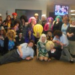 """The @startelegram advertising team had a """"Wig Out"""" for #Halloween So groovy! http://t.co/P1kaKfjwd2"""