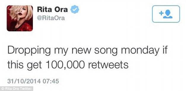 Rita Ora deleted this tweet because it got less than 2,000 retweets :/ http://t.co/pEvFyf2V8u http://t.co/z8FlJZholw