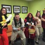 Dust Bunny, Ghostbuster, Red Riding Hood, Zombie Scooby Doo, Carmen Sandiego rock Halloween! @WorkingatDuke http://t.co/jnPvh4wOTT
