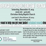 "Get your record ""cleaned"" with @JACLouisiana on Nov. 8. #justice #2ndchance #NewOrleans http://t.co/Olkg6Z7Bu2"