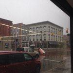 Yikes. Serious snow falling in downtown #Kalamazoo. http://t.co/1DbxTADspM