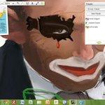 @bugwannostra Tweeps - my first full art illustration for Abbott. Image shows study of usa map for Abbott Clown. http://t.co/Mk22XjsMTL