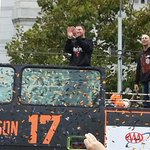 A couple of first-time Champs. #SFGParade #SFGiants @kimberlybhudson @hstrickland60 http://t.co/UAPAFFkAuS