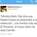 Aquí cuando Correa nos decía mentirosos por publicar que se presentaría a reelección. Quién mintió finalmente? http://t.co/aE6PRhb2HE