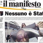 La prima pagina de @ilmanifesto di domani. #Cucchi http://t.co/9gA0zKzCQ9