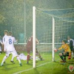 Heres the moment when Liam Angel scored to give #Wales a 1-0 win against #England @bangorcityfc. #TogetherStronger http://t.co/OXXbl2dozY