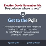 We joined @pewtrusts @votinginfo & @InternetAssn to help voters #gettothepolls on 11/4 → http://t.co/csknISTdXd http://t.co/A8E5mng4P2