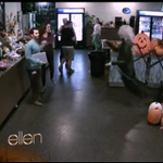 #EllenDeGeneres scares her staff & even some audience members with this fun #Halloween prank! http://t.co/HpYdO4X79F