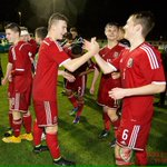 PHOTO | Fantastic Scenes at FT as @FAWales U16s beat @England 1-0 in the Opening Game of the 2014 #VictoryShield http://t.co/uMRlZeUe0l
