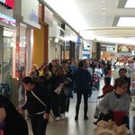 University Park Mall in Mishawaka is PACKED! Guess we found all our trick-or-treaters... http://t.co/PqsKNrssjv