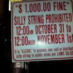 #LosAngeles silly string ordinance as posted at Argyle and #Hollywood Blvd. This means you! http://t.co/kVEDziHESY