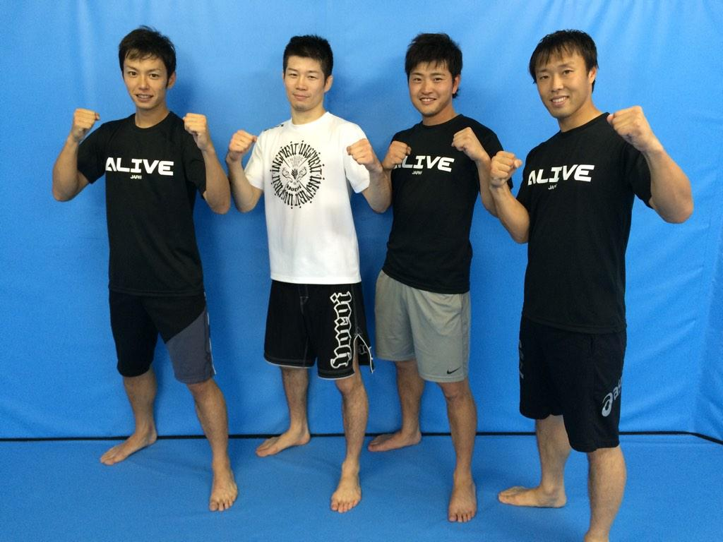 中日ドラゴンズ × UFCファイター! 浅尾・岩田・山内選手がALIVEに来て、発とトレーニングしたよ! 地元 名古屋の力を集結だ! http://t.co/tvOmeA7eI3