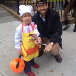 Trick-or-treating at Cobble Hill parade w/ @DanielSquadron & Theo (who gave out least 521 SquadroBars. http://t.co/Z9c2YMYfgT
