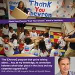 "Photo from Chevron's ""Fuel Your Schools"" program in Louisiana. #vanpoli http://t.co/41xUloY4nS"