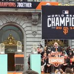 """THREE! THREE! THREE!"" #SFGParade #SFGiants http://t.co/g0Wdb1d48I"