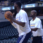 .@Hoya2aPacer warms up in the paint. Watch tonights game on @FSIndiana at 7p with pregame coverage starting at 6:30. http://t.co/ONH5ryF6gz