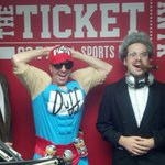 """Duffman w @937theticket afternoon duo of """"Maverick"""" @RealMikeWelch & """"Don King"""" (real hair) @jakebockoven. OOH YEAAH! http://t.co/5xluLz6fop"""