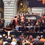 "@mayoredlee presents the team with ""the"" Key to the City of #SF, declares today @SFGiants Day #SFGParade @mercnews http://t.co/7bRFzNZxEd"