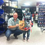 "Laken ""The Transformer"" got his very own Optimus Prime Western Star thanks 2 Toby! #yql @star_barb #DunlopWesternStar http://t.co/f3nONc2w3q"
