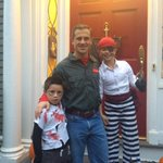 Hi Neighbor! Happy Halloween! Cecis a pirate, Tommys a zombie & Andy is a @Gansettbeer delivery man: http://t.co/8EOj8nR6DE