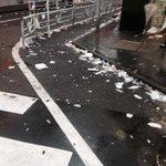 渋谷酷いっすわー ハッピーハロウィンだかなんだか知らんし、浮かれるのは勝手ですが大人なんだからゴミの処理くらいキチンとして欲しいっす。片付けてる方々ありがとうございます。名古屋行ってきます。 http://t.co/BecTfJfiuy