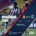 Termina el encuentro en el Estadio Morelos, marcador final: @FuerzaMonarca 2-1 @Rayados #MONvsMTY http://t.co/wn3BmcFzAk