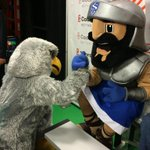 We had a request a we always deliver! The #salisbury falcon and the #southernlehigh spartan arm wrestling! http://t.co/LdrBVGgQqY