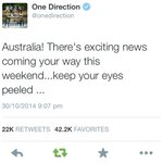 Well know soon! @onedirection. Keep listening to #KIIS1065 this afternoon. #1DonKIIS http://t.co/1J5bVADCHN
