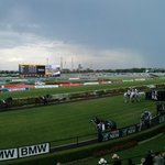 Lightning halted racing at @rosehillgardens temporarily for safety, but jockeys have remounted, heading out for R4. http://t.co/KjGdbfMGNS
