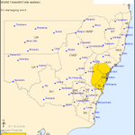 #NSW SEVERE THUNDERSTORM WARNING for DAMAGING WIND   Locations include #Sydney, #Parramatta, #Gosford & #Katoomba. http://t.co/lydlKurfrk