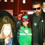 The three MOREistas! @MindyRosier, @brainyandbrawny @gbran289 aka Evil Moskowitz at the Halloween Parade! http://t.co/i46EbuyZ2P