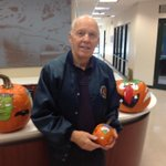 Jim Jarboe from @tpvfd posing with his pumpkin art http://t.co/fKCyzXFp94