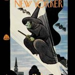 For Halloween, the New Yorker shows a wartime witchs flight- but who is lit up by the searchlight? Hitler! http://t.co/UdmMO3qCQh