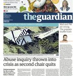 Guardian front page, Saturday 1 November 2014: Abuse inquiry thrown into crisis as second chair quits http://t.co/z6rTIjUaSe