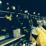 Its a cold, cold Friday night. These Avon fans bundled up. http://t.co/4yCP1FHrVD