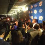 media mob around Doc Rivers B4 Clippers-Lakers on Prime Ticket at 7:30. Clippers Live at 7 http://t.co/TMYaikfQo8