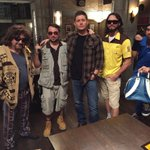 #HappyHalloween from the set of #SupernaturaI and the cast of #TheBigLebowski ...White Russian anyone? http://t.co/i9GZnG0DZW