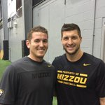 Had an awesome time throwing and working out with one of my role models Tim Tebow tonight. Love this guy! http://t.co/lTyrNQr39C