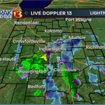 9:20pm Live Doppler 13 Radar-steady snow NE #Indy to Carmel to Greenfield and northern Henry county-this is sticking http://t.co/UaOgNebG0l
