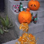 Have Fun Halloween Night, Everyone! (Not like this Pumpkin Dude) #HappyHalloween #TrickOrTreating #Vancouver http://t.co/i0LCwQkS8X