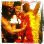 That one time with the pirate, the wrestlers, & the parrot. Happy Halloween! #fbf @lmfao @SkysNuts @redfoo @ampradio http://t.co/sZFv3rasbT
