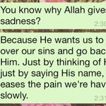 Why Allah give us sadness? http://t.co/z4BreD0ZNB