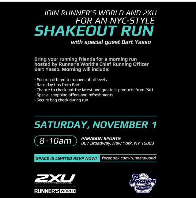 Join us for a SHAKE OUT run tomorrow morning at 8 with @BartYasso @2XU_USA & @runnersworld http://t.co/E9v6KpHc68